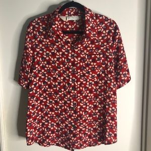 Vintage Red Button Down
